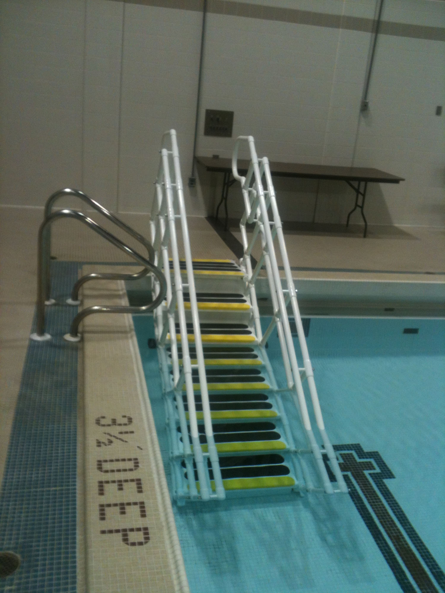 ADA Pool Steps front